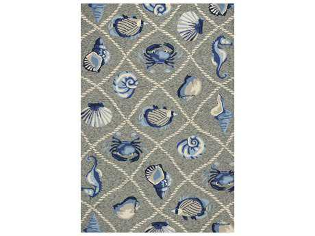KAS Rugs Harbor Grey Rectangular Area Rug KG4219
