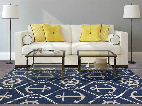 KAS Rugs Harbor Navy Rectangular Area Rug KG4220