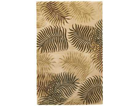 KAS Rugs Havana Natural Fern View Area Rug KG2622