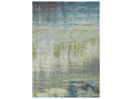 KAS Rugs Illusions Blue & Green Rectangular Area Rug