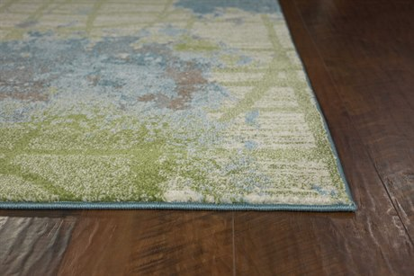 Kas Rugs Illusions Green & Blue Visions Rectangular Area Rug