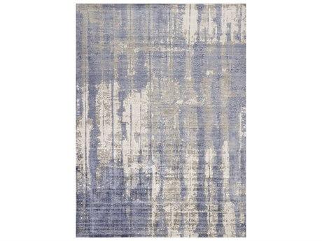 KAS Rugs Indulge Grey / Blue Rectangular Area Rug