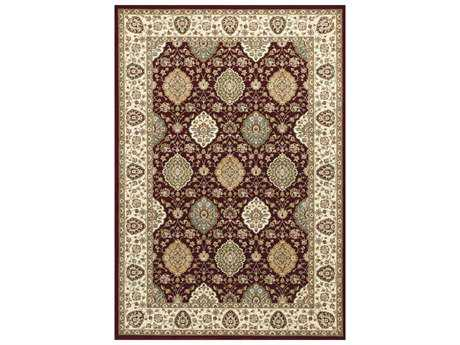 KAS Rugs Kingston Ruby & Ivory Rectangular Area Rug KG6405
