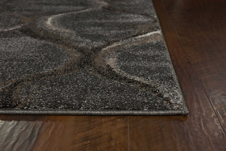 Kas Rugs Landscapes Charcoal Groove Rectangular Area Rug