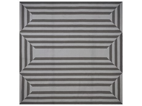 KAS Rugs Libby Langdon Hamptons Charcoal Square Area Rug