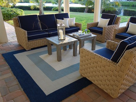 KAS Rugs Libby Langdon Hamptons Slate / Navy Rectangular Area Rug