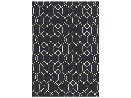 KAS Rugs Libby Langdon Hamptons Navy Rectangular Area Rug
