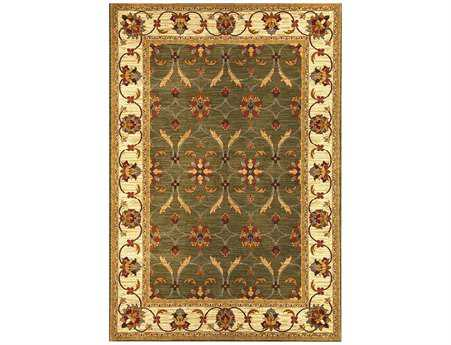 KAS Rugs Lifestyles Green & Ivory Agra Area Rug KG5470