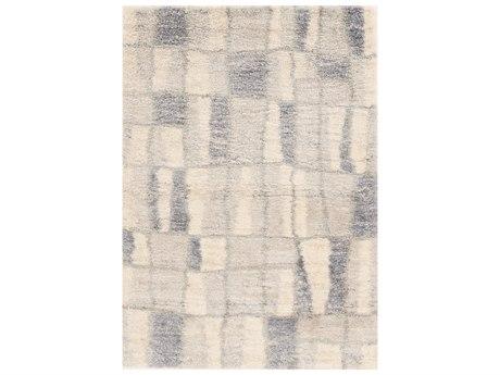 KAS Rugs Merino Ivory / Blue Rectangular Area Rug