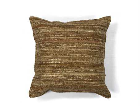 KAS Rugs Beige Viscose Square Pillow KGL104