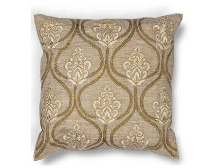 Kas Rugs Gold Square Pillow KGL182