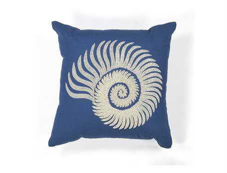 KAS Rugs Seashell Spiral Square Pillow