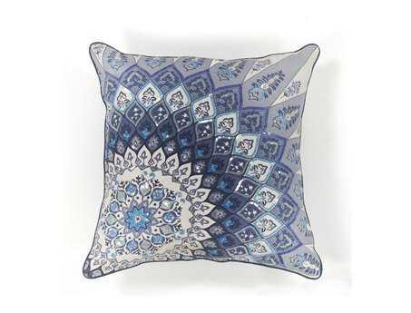 KAS Rugs Blue Starburst Square Pillow