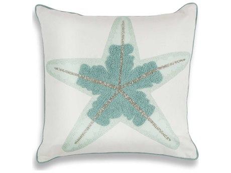Kas Rugs Aqua Starfish 18'' Square Pillow