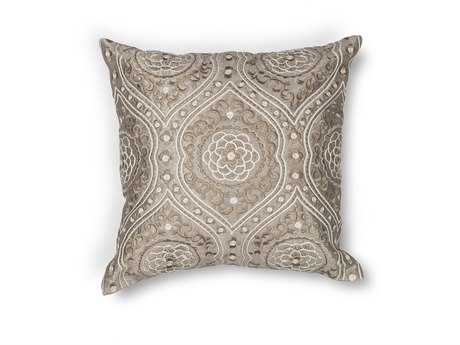 Kas Rugs Silver Square Pillow KGL183