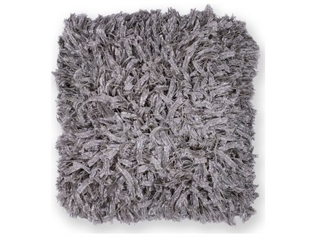 Kas Rugs Silver Shimmer 18'' Square Pillow KGL266