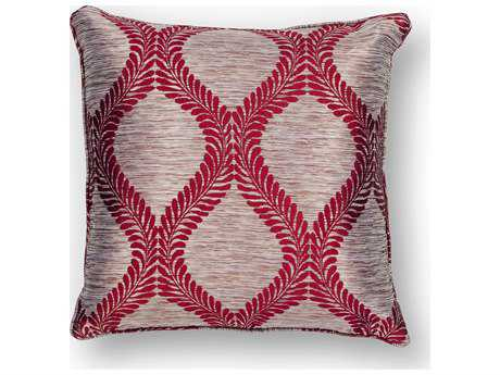 Kas Rugs Red Square Pillow