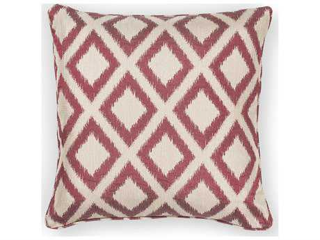 Kas Rugs Red Square Pillow KGL243