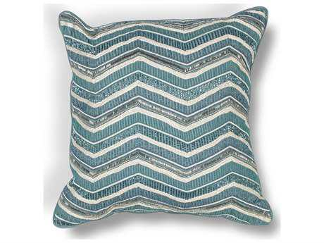 Kas Rugs Teal Square Pillow KGL190