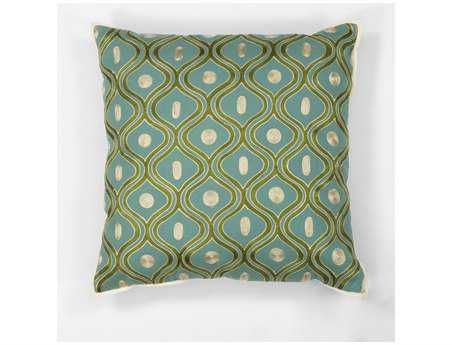 KAS Rugs Teal & Gold Gramercy Square Pillow KGL106
