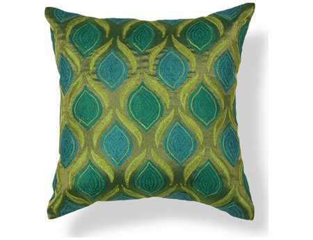 KAS Rugs Teal & Green Tribeca Square Pillow KGL107