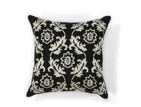 KAS Rugs Black & White Finesse Square Pillow