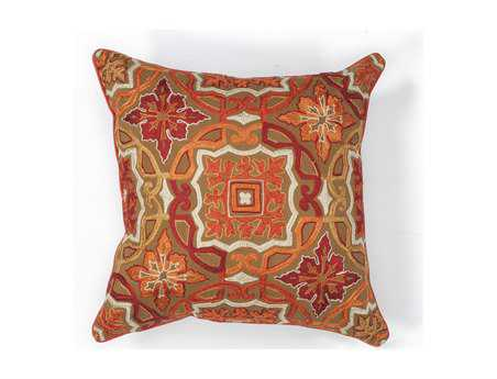 KAS Rugs Mocha Awakening Square Pillow KGL125