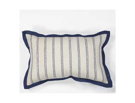 KAS Rugs Ivory Nautical Stripes Rectangular Pillow