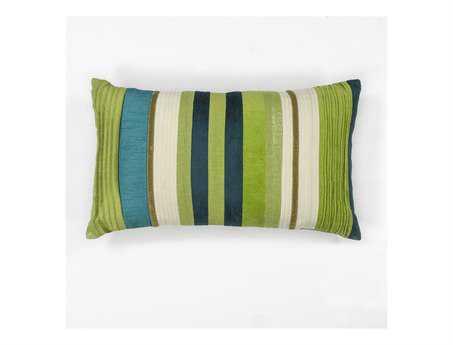 KAS Rugs Teal Green Stripes Rectangular Pillow