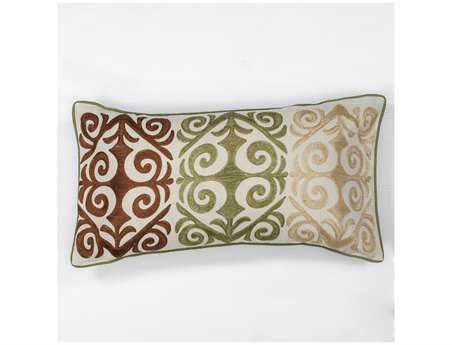 KAS Rugs Multicolor Damask Rectangular Pillow KGL171