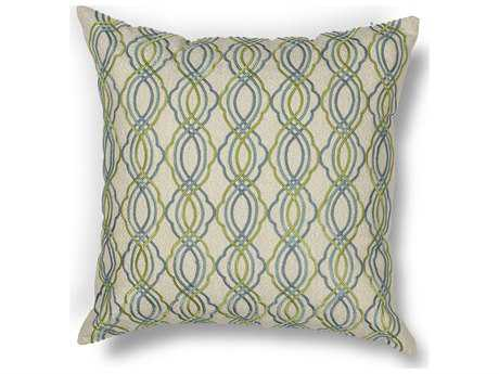 Kas Rugs Blue & Green Square Pillow KGL195