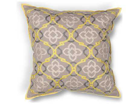 Kas Rugs Yellow & Grey Square Pillow KGL197