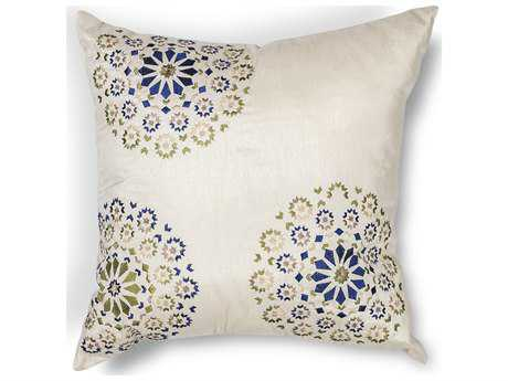 Kas Rugs Ivory & Blue Square Pillow KGL205