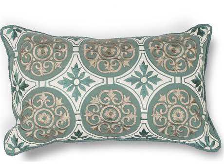 Kas Rugs Teal Rectangular Pillow KGL219