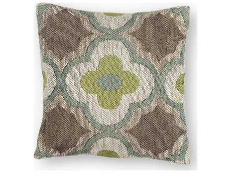 Kas Rugs Taupe & Sage Square Pillow KGL230