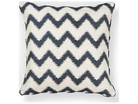 Kas Rugs Ivory & Navy Square Pillow