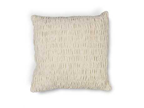 Kas Rugs Ivory Square Pillow