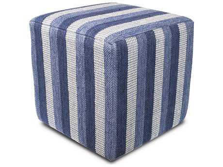 Kas Rugs Denim Cube Pouf KGF838