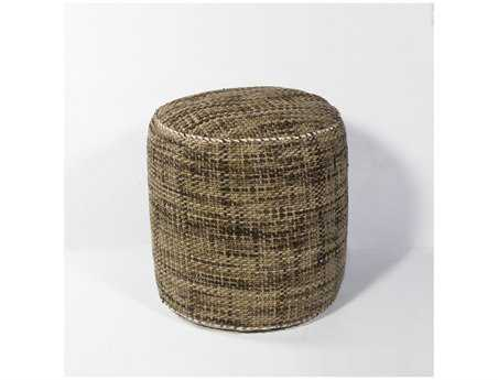 KAS Rugs Mocha Textures Cylinder Pouf KGF824