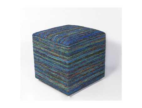 KAS Rugs Aqua Viscose Cube Pouf KGF802