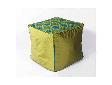 KAS Rugs Teal & Green Tribeca Cube Pouf KGF811