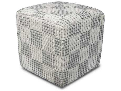 Kas Rugs Ivory Cube Pouf KGF837