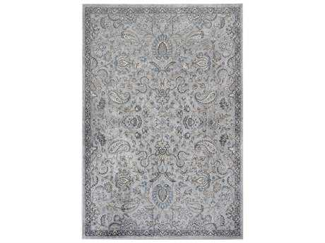 KAS Rugs Provence Silver & Blue Rectangular Area Rug KG8613