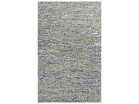 KAS Rugs Serenity Ocean Blue Rectangular Area Rug