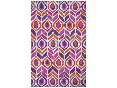 KAS Rugs Shelby Pink 5' x 8' Rectangular Area Rug