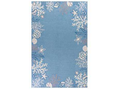 KAS Rugs Sonesta Sea Blue Rectangular Area Rug KG2024