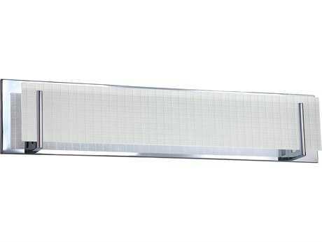 Kendal Lighting Aurora Chrome with Linen Glass Five-Light Vanity Light
