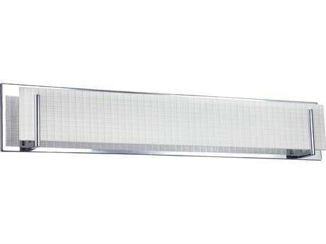 Kendal Lighting Aurora Chrome with Linen Glass Six-Light Vanity Light