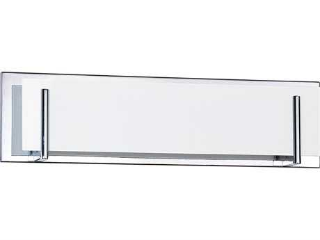 Kendal Lighting Aurora Chrome with White Glass Four-Light Vanity Light KENVF2400WH4LCH