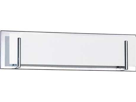 Kendal Lighting Aurora Chrome with White Glass Four-Light Vanity Light